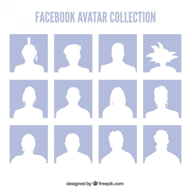 Facebook avatars collection Free Vector