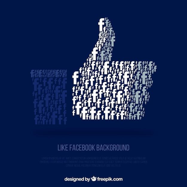 Фон facebook с похожим значком Бесплатные векторы