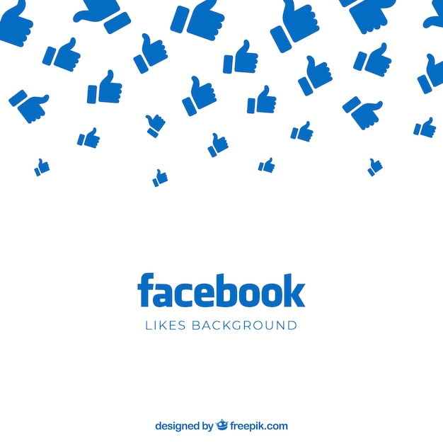 Facebook background with likes Free Vector