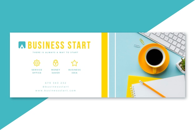 Facebook business cover design Free Vector