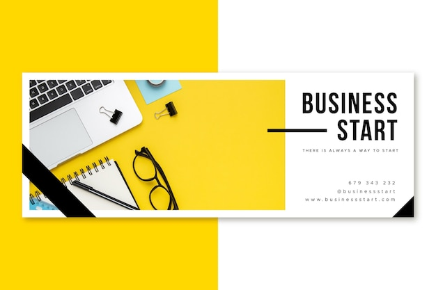 Facebook business cover Free Vector