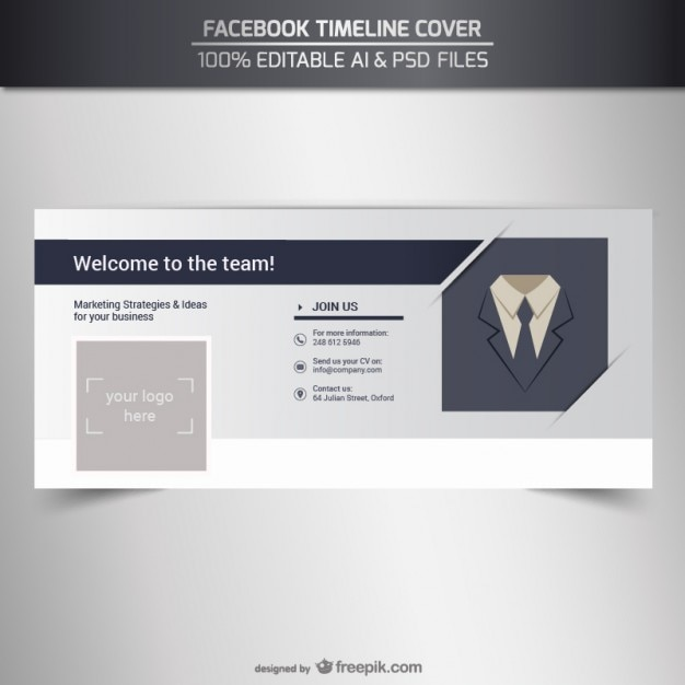 Facebook business timeline cover Vector | Free Download
