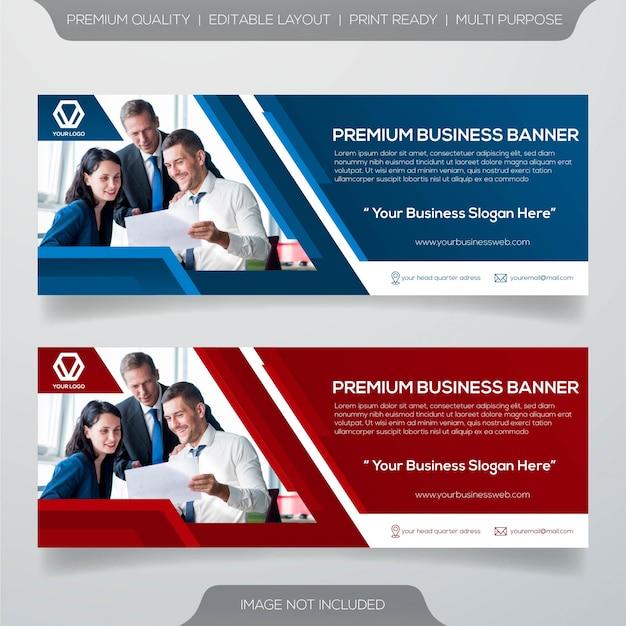 Facebook cover banner template Premium Vector