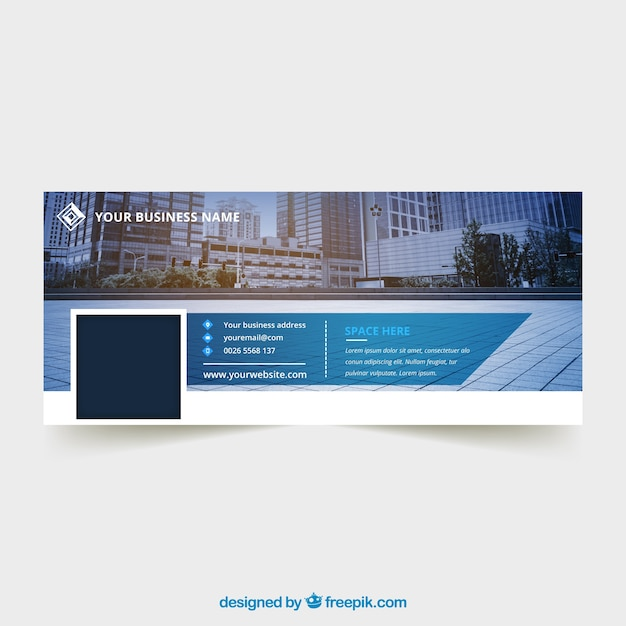 Facebook cover for business