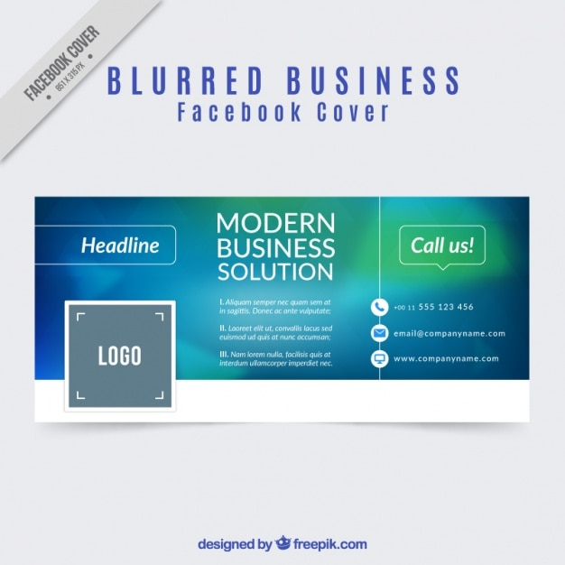 facebook cover of business blurred design Vector | Free Download
