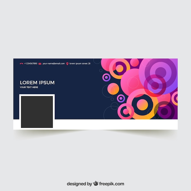 Facebook cover with abstract design of circles