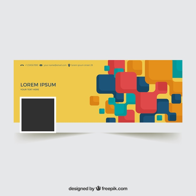 facebook cover with abstract shapes