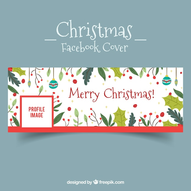 Facebook cover with christmas elements Vector