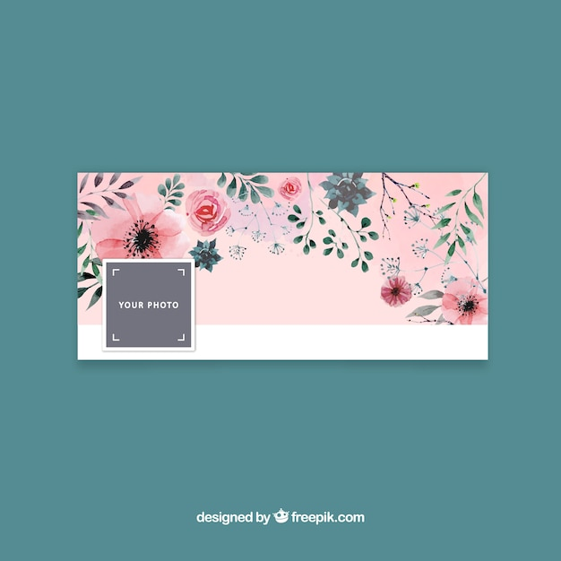 Facebook cover with floral design