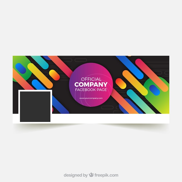 Facebook cover with shapes of colors