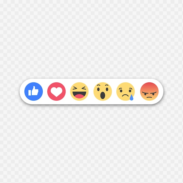 Facebook emoticons Free Vector