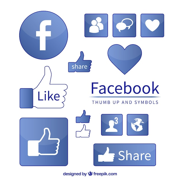 Facebook like and share icon
