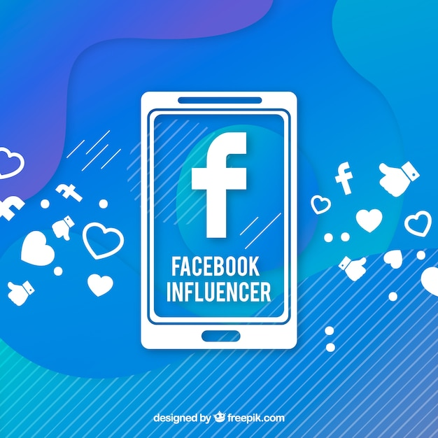 Facebook influencer background in gradient colors Free Vector