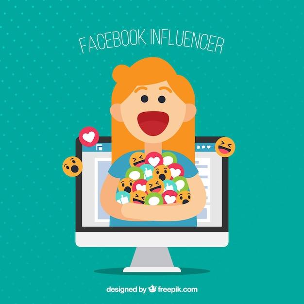 Free Vector | Facebook influencer background