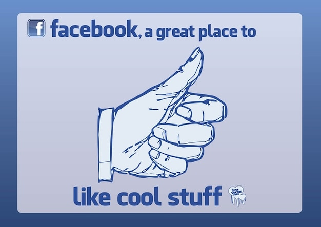 Facebook Like Free Vector