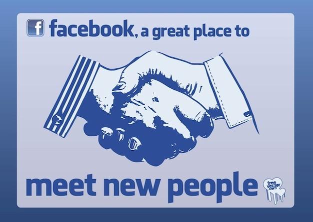 Facebook Shake Hands Vector