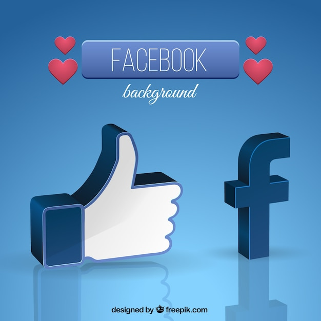 Facebook Symbol Background Vector Free Download