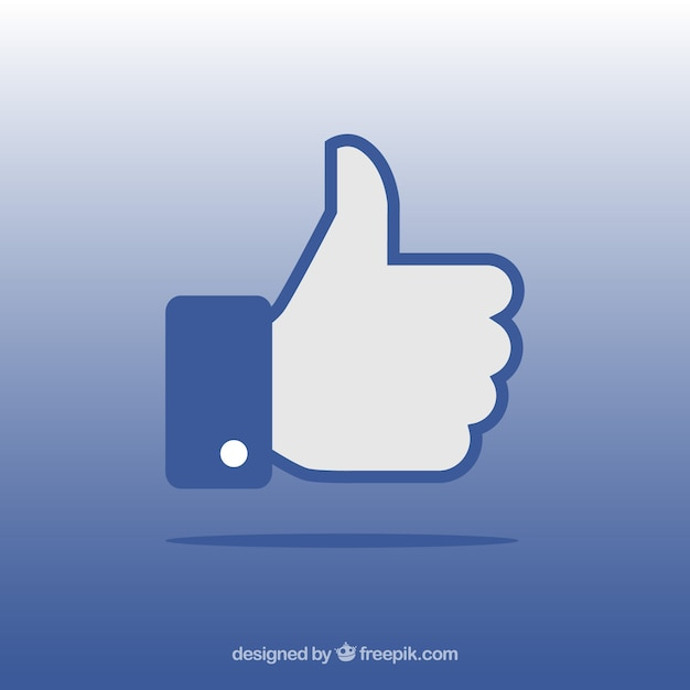 Facebook thumb up like background in flat style Free Vector