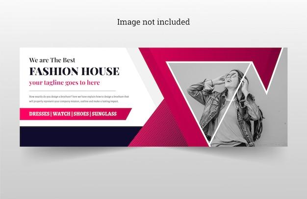 カラフルなファッション販売バナーfacebookカバーユニークで創造的なプレミアムベクトル Premiumベクター