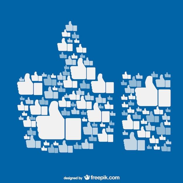 Facebookのコンセプトベクター上のような 無料ベクター