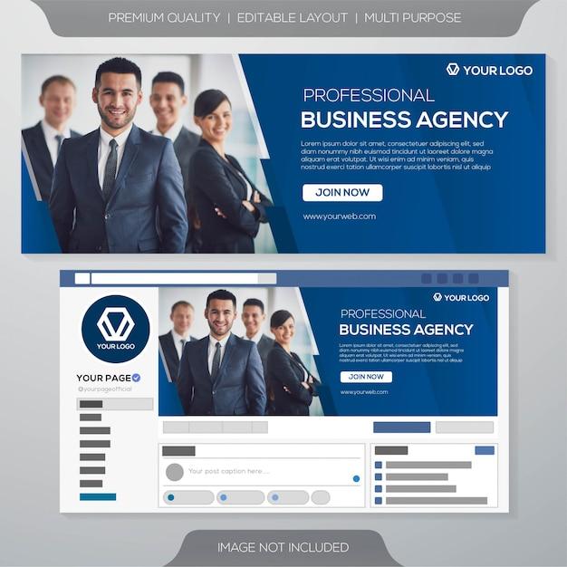 Шаблон бизнес-обложки facebook Premium векторы