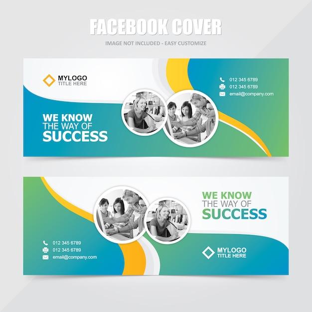 Корпоративные социальные медиа facebook баннер векторный шаблон Premium векторы