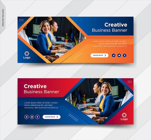 ビジネスfacebookカバーソーシャルメディア投稿バナー Premiumベクター