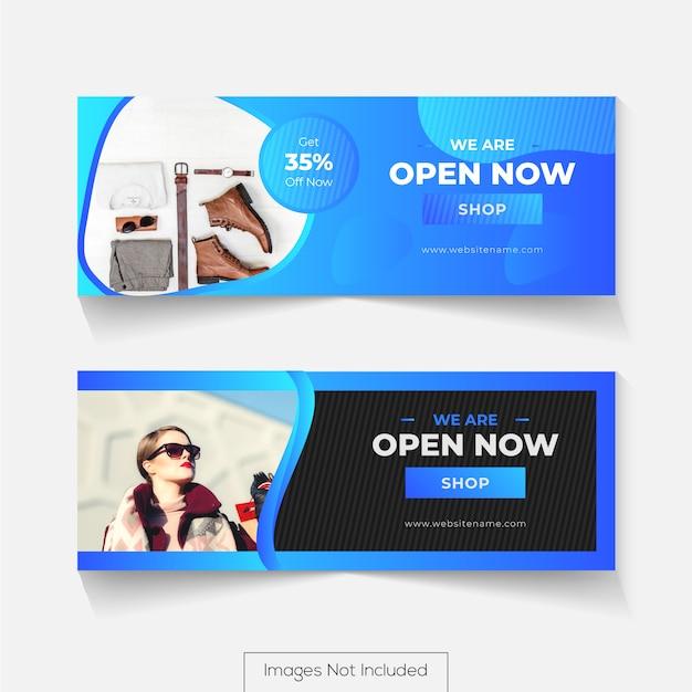 Дизайн обложки в социальных сетях для шкалы времени facebook Premium векторы