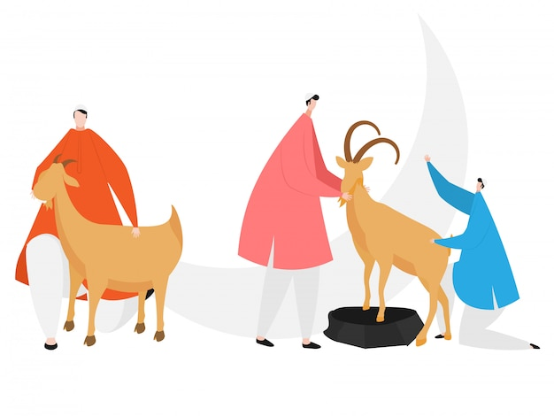 Faceless character of man wearing their traditional clothes Premium Vector