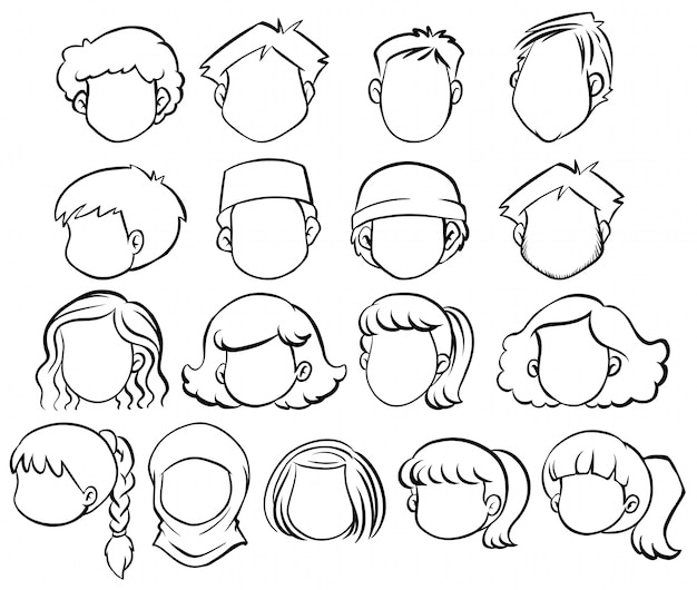 Head Outline Vectors Photos And Psd Files Free Download