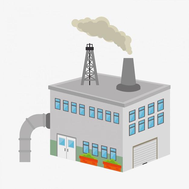 Factories and industries graphic Premium Vector