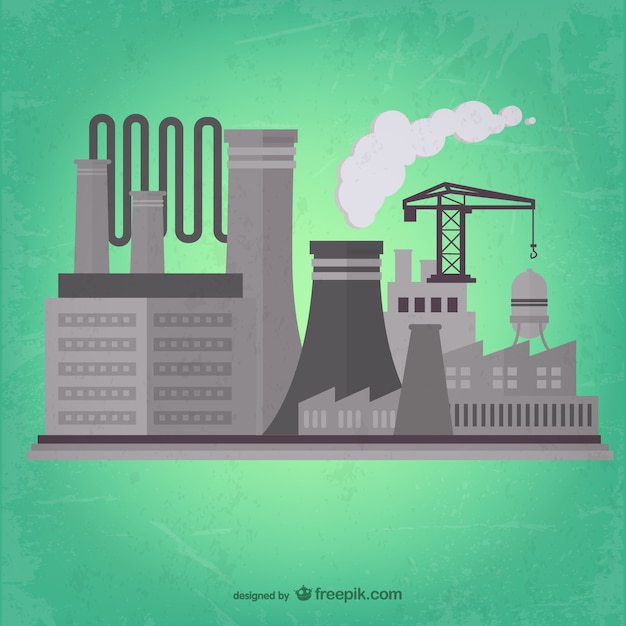 Factory background Free Vector