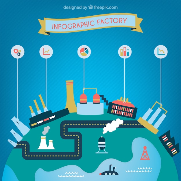 Factory infographic Free Vector