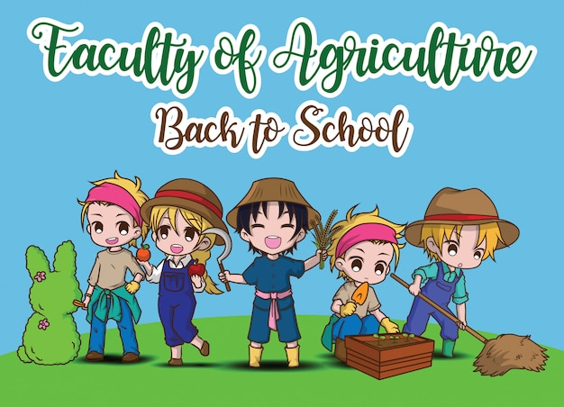 Faculty of applied art., back to school. Premium Vector