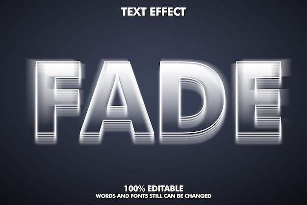 Эффект исчезновения текста, редактируемый шрифт Бесплатные векторы