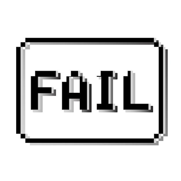 Fail pixel stamp Premium Vector
