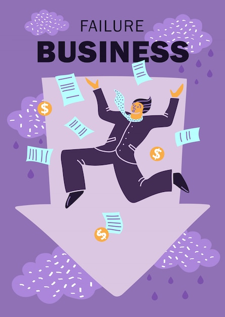 Failure business Free Vector