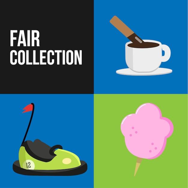 Fair collection Free Vector
