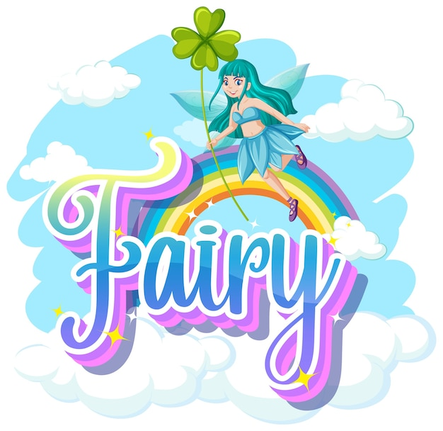 Fairy logos on white background Free Vector