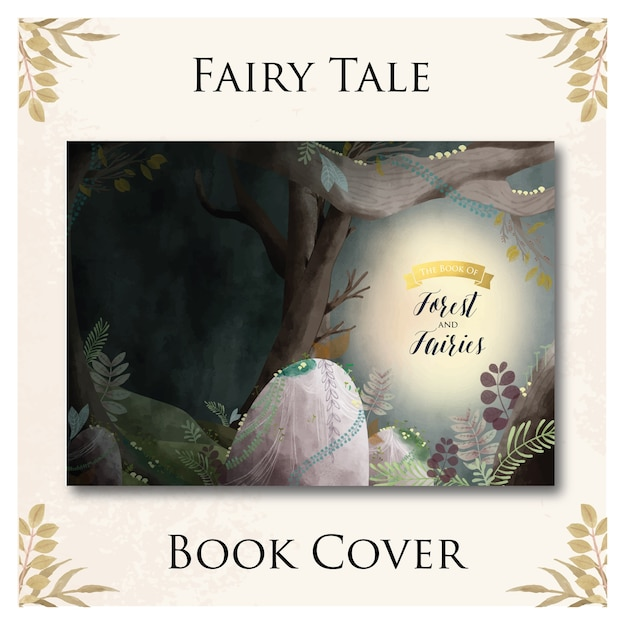 Fairy tale book cover Premium Vector