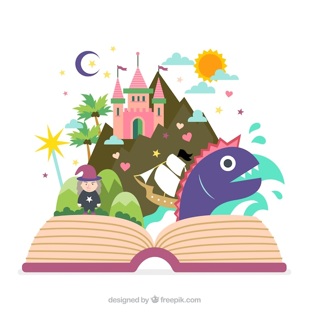 Fairy Tale Book Vector Free Download