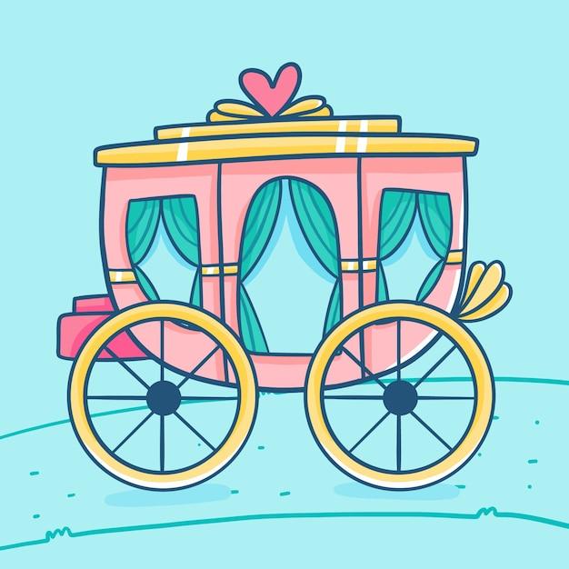 Сказочная коляска Бесплатные векторы