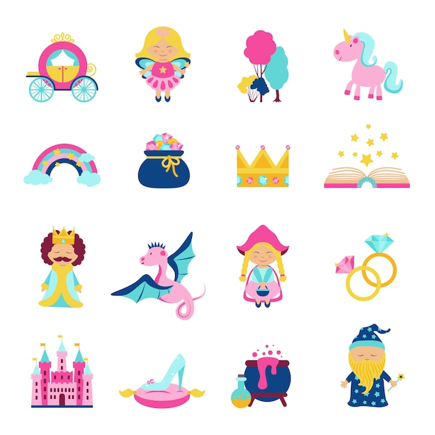 Fairy tale set Free Vector
