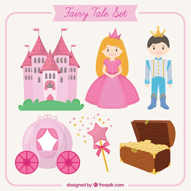 Fairy tale set Premium Vector