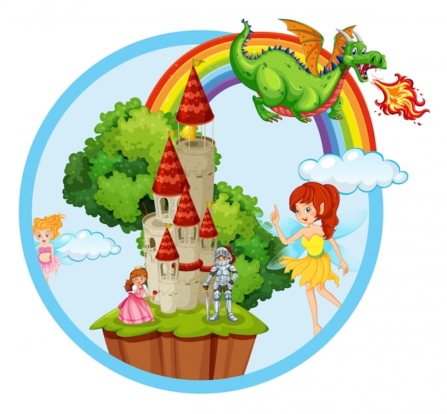 Fairy tale story scene Vector | Free Download