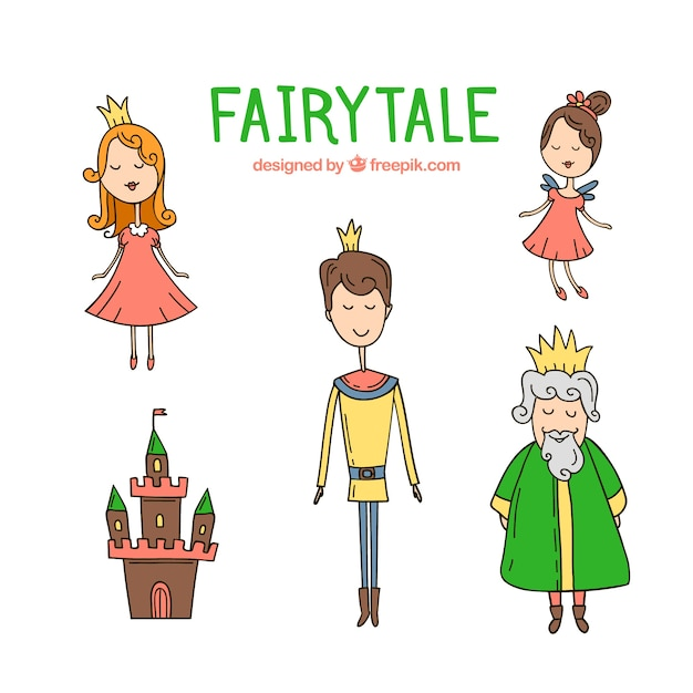 Fairytale Characters Free Vector