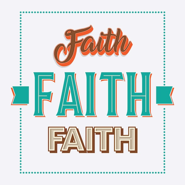 Faith handlettering typography collection Premium Vector
