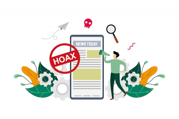 Fake news concept illustration Premium Vector