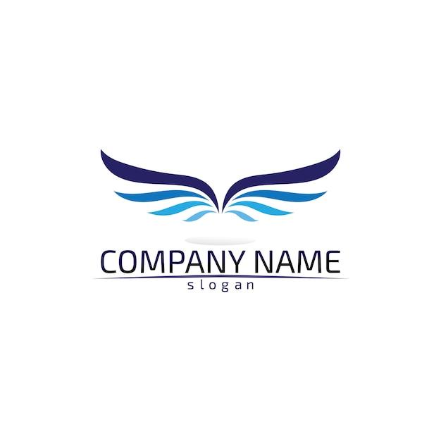 Falcon wings logo template значок дизайн логотипа приложение Premium векторы