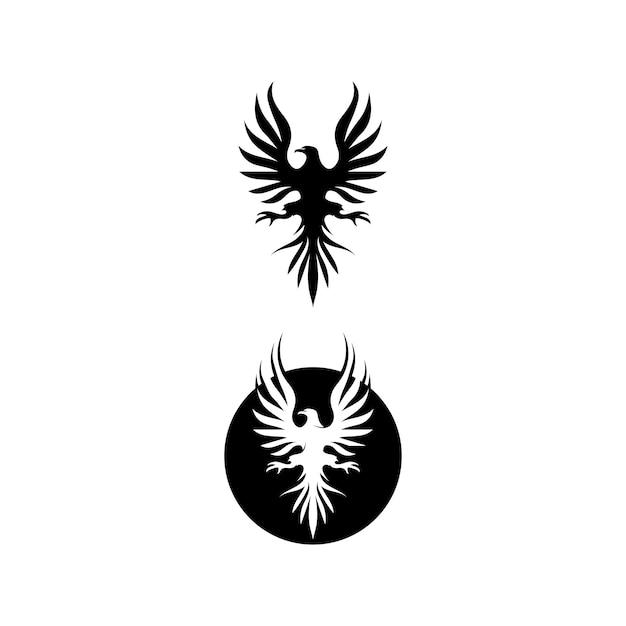 Falcon wings logo template  icon logo design app Premium Vector